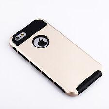 Iphone 5S gold & blackCase armor  Hybrid Shockproof Hard Rugged Heavy DutyCover