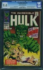 Hulk #102 CGC 9.4 Marvel 1968 Origin! 1st Issue! Avengers! Thor D12 243 cm clean