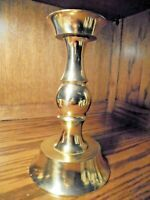 "Vintage 10"" Tall Brass Column Candle Large Wide Base Candlestick Holder      116"