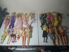 Lot Of 6 Barbies & 4 Kens From The 60s(right). 9 Barbies From The 90s (left)