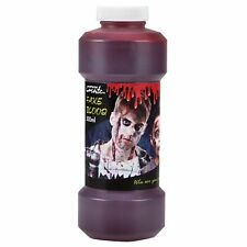 Fake Red Blood 500ml Bottle Bulk Face Paint Wounds Scars Make Up Fancy Dress