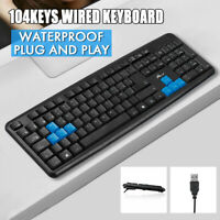 Ultrathin Gaming Keyboard USB2.0 Wired Plug And Play Ergonomic For PC Laptop