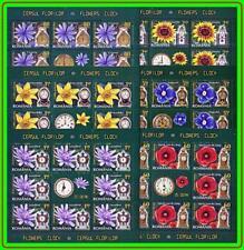 ROMANIA 2013 FLOWERS & CLOCKS x6 M/S MNH CV$58.00 (LAT2)