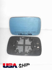 Passenger Side mirror glass For BMW E39 E46 320i 330i 325i 525i Blue Tinted Heat