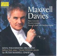 PETER MAXWELL DAVIES Piano & Piccolo Concerto more CD COLLINS OG, UK LIKE NEW