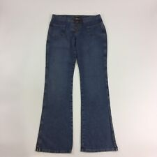 Lucky Brand Womens Jean Ashberry Flare O Size 10 30 Medium Wash Lace Up Denim