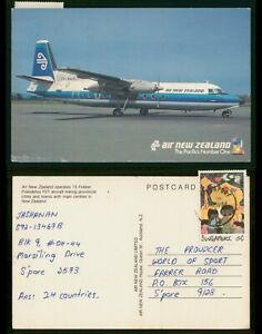 Mayfairstamps Singapore 1980s New Zealand Pacific's Number One 15 Fokker Aircraf