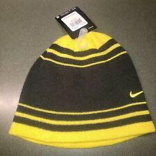 New w/ tags - Boys/Girls Nike Beanie Winter Hat Black/Yellow Size 8/20