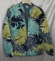 Alfred Dunner Woman's 12 Reversible Quilted Navy Long Sleeve Jacket