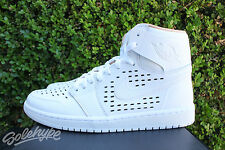 NIKE AIR JORDAN 1 RETRO HI SZ 10 WHITE VACHETTA TAN ENGINEERED PERF 845018 142
