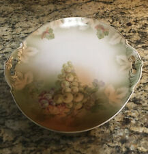 New listing Antique Grape Cluster Hand Painted Porcelain China Serving Plate M & Z Austria