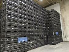 Industrial Plastic Stackable Crate 45x48x22 Bulk Container for Warehousing