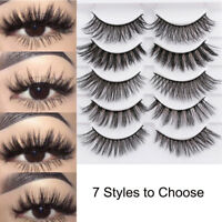 5Pairs 3D Faux Mink Hair False Eyelashes Extension Wispy Fluffy Think Lashes SY