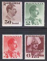 Romania 1934 MNH Mi 474-477 Sc 436-439 King Carol II set **
