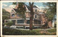 Freeport Long Island NY Elks Club c1920 Postcard