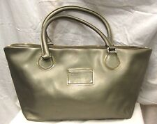 MARC JACOBS METALLIC LEATHER TOTE SHOPPER BAG