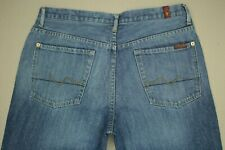7 For All Mankind Relaxed Fit Jeans Men's Size 32 Button Fly Medium Wash Denim