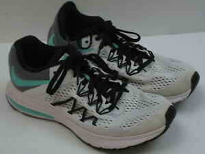 Nike Zoom Winflo 3 Women's Size 6.5 White & Green Athletic Running Shoes 7878