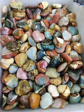 100g Natural Colorful Ocean Jasper HEART SHAPE Love Quartz Crystal Wholesale