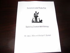 Exploring Creation with Biology Jay Wile Apologia Science homeschool Solution/te