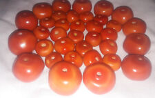 New Berber Amber Resin Beads Necklace handmade pendant Gruna round beads 35 Pcs