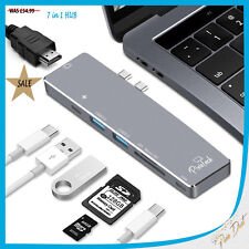 MacBook Pro Type-c to USB 3.0 Adapter 7 in 1 HUB Thunderbolt 3 to 4K HDMI SDCard