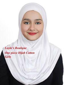 Girls Hijab One Piece  Cotton  Standard  Kids  Al-Amira Hijabs1 pc hijab