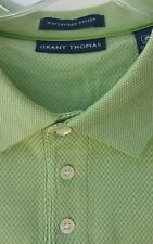 Grant Thomas Mens Polo Shirt XXL Green Pattern Short Sleeve
