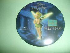"Wdcc Disney Tinkerbell 1996 Sculpture Event Button Pin 3"" Round Peter Pan"