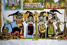 Vintage Pendle Witch Monitor Designs Halloween Lancaster Tea Towel
