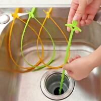 Hair Removal Tool Drain Dredge Pipe Sewer Cleaner Hook for Bathroom Kitchen A++