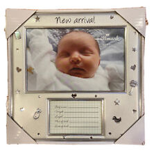 Brand New In Box Hallark New Arrival Baby Silver 4x6 Picture Frame