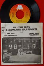 """SIMON AND GARFUNKEL MY LITTLE TOWN/RAG DOLL/YOU'RE KIND 1975 RARE EXYU 7"""" PS"""