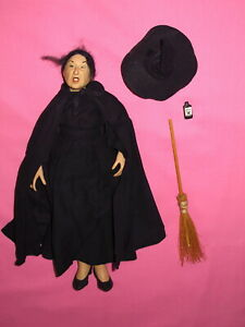 Primitive Halloween Decoration - Wicked Witch of the West Doll UFDC 1982 Signed