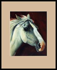 Lluis Bargallo Llurba Porträt Pferd Poster Bild Kunstdruck im Alu Rahmen 50x40cm