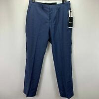 DKNY Mens Dean Slim Fit Stretch Neat Suit Pants Blue 32x30
