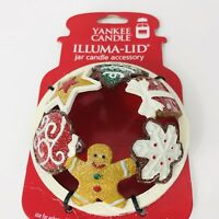 Yankee Candle Illuma Lid Christmas Jar Accessory Holiday Gingerbread Cookies
