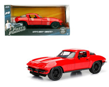LETTYS CHEVY CORVETTE RED Fast & Furious 8 1/24 Scale Diecast Car JADA