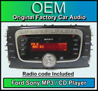 FORD C-MAX CD MP3 Player, Sony Radio de coche Unidad Principal con la muñeca