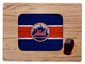 NEW YORK METS WOODGRAIN DESIGN  MOUSEPAD MOUSE PAD HOME OFFICE GIFT MLB