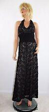 JOSEPH RIBKOFF Black Lace Halter Formal Prom Dress Evening Ball Gown Size 6