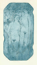 "Original Erotic etching A. Durer ""Adam and Eva"" by HLAVATY PAVEL / Czech"