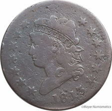 1813 1C Classic Head Cent (RAW) Choice VG - Very Good