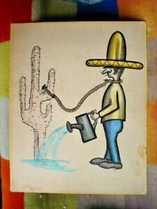 HAND PAINTED EL MEXICANO ( MEXICAN ) BY A R WARD UNFRAMED 60 X 50 cm see all F