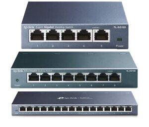 TP-Link 5, 8, 16 Ports Gigabit Netzwerk Switch Verteiler LAN RJ-45 Hub Lüfterlos