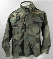 US Army Coat Cold Weather Field Camo Camouflage Combat Pattern Mens S Short Hood