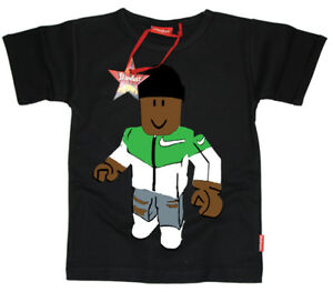 STARDUST ETHICAL ROBLOX KIDS CHILDRENS GAMING WITH KEV T-SHIRT (BLACK)