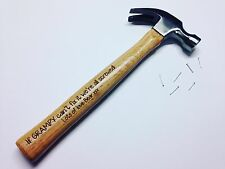 Personalised Engraved Hammer, Fathers Day, For Him Gift, Dad, Grandad,