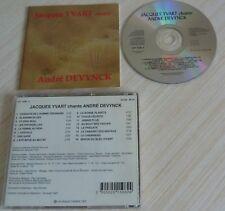 CD ALBUM JACQUES YVART CHANTE ANDRE DEVYNCK 16 TITRES 1994