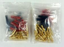 Lot of (2) 16 pk Gold-Plated, Crimp-on Banana Plugs IW-16PLUG
